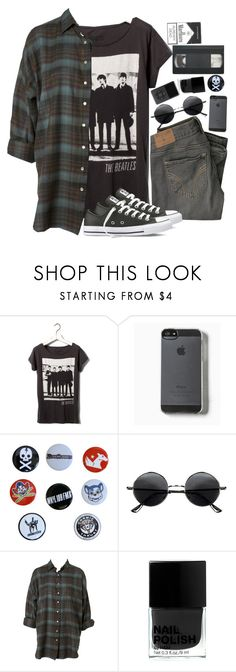 """""""The beatles..."""" by tuba-00 ❤ liked on Polyvore featuring Pull&Bear, Zone, Retrò, H&M and Converse"""