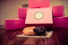 www.isovisionstudios.com  Berger cookies and Krispy Kreme DIY Favors from our wedding with Megan + Brandan! Too adorable!  #diyweddingfavors #diy #wedding