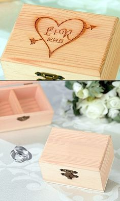 Personalized Ring Bearer Box with Initials