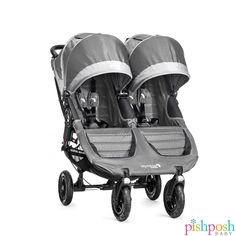 The Baby Jogger City Mini GT Double Stroller is an all-terrain double buggy that's suitable for twins and narrow enough to fit through most standard sized doors. City Mini Double Stroller, Double Stroller Reviews, Best Double Stroller, Double Strollers, Baby Jogger Double, Single Stroller, Baby Jogger Stroller, Baby Jogger City, Baby Strollers