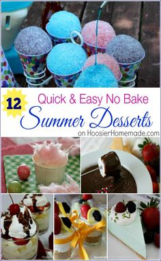 12 No Bake Summer De