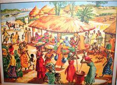 Les pays tropicaux (affiche scolaire, années 60) Elves, Illustration, Tropical, Painting, Etsy, Vintage, Posters, School Posters, Old Cards