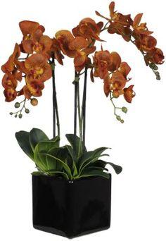 Artificial Triple-stem Phalaenopsis Orchid Arrangement