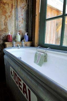 223491200232093834 a new way to soak! fiberglass lined cattle trough bathtub!