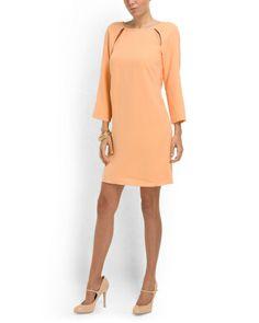 Alison Crepe Shift Dress