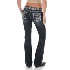 Rock 47 by Wrangler Women's Rocky Top Low Rise Jeans