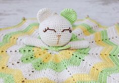 Crochet Security Blanket/ Lovey/ Comforter/ Baby by LilCrochetLove