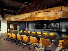 TABISSO.com - Office Project Main Conference Room - Armchairs Ciel! Collection Office Model design Noé Duchaufour Lawrance - Client Procore Los Angeles USA - Interior Designer KINGDOM INDUSTRY - photo credit: ©James John Jetel, Inc.