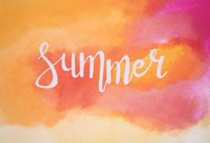 Вечное лето внутри. #summer #lettering