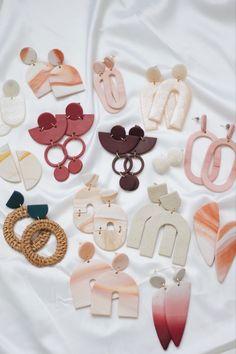 Polymer Clay Canes, Cute Polymer Clay, Fimo Clay, Polymer Clay Jewelry, Clay Beads, Handmade Polymer Clay, Diy Clay Earrings, Clay Ornaments, Clay Design
