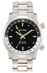 Jack Spade 'Cortlandt' Dual Time Bracelet Watch, 43mm