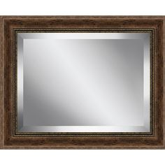 Found it at Wayfair - Rustic Walnut Wood Effect Framed Beveled Plate Glass…
