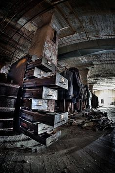 old abandoned clothing factory .