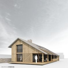 201509 nieuwbouw woonhuis | ARCHITECTUURSTUDIO SKA Architecture Plan, Architecture Details, Solar House, Shed Homes, Modern Barn, Small House Design, Bungalows, House In The Woods, Future House