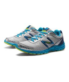 afee706f82f Silver  amp  Blue 590v3 Running Shoe by