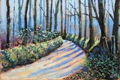 Buy Lane of lights - Day 192/365 Postcards from Pembrokeshire, Oil painting by Guy Manning on Artfinder. Discover thousands of other original paintings, prints, sculptures and photography from independent artists.
