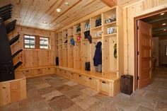 The ultimate mud room for skis?