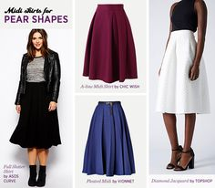 How to find the midi skirt that fits your body- Pear Shapes