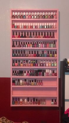 Homemade Nail Polish Rack