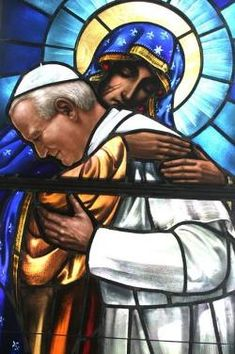 Blessed John Paul II in Mother Mary's Arms -- Totus Tuus - Christian Saints & Heroes - News - Catholic Online