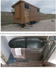 """When a company with a name like """"Maximus Extreme"""" builds a tiny house you know to expect something different. So when they completed this steampunk styled build on last night's Tiny House Nation, they delivered on that expectation, construction a most unique home that mixes together rustic elements, copper accents and industrial finishes in one beautiful package. 
