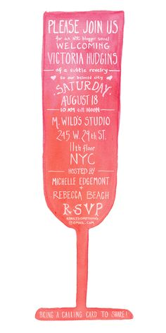 Hand lettered watercolor invite. This was so much fun to work on, can't wait for the party!