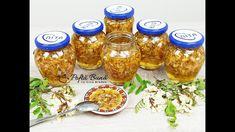 Dulceata de salcam cu lamaie, reteta veche - Gina Bradea - YouTube Canning Pickles, Mason Jar Wine Glass, Chutney, Deserts, Food And Drink, Spices, The Creator, Tableware, Foods