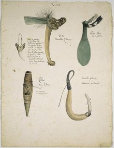 Drawings of New Zealand Maori artefacts from the century Once Were Warriors, World Of Wearable Art, Nz History, Polynesian People, Maori Designs, New Zealand Art, Maori Art, Kiwiana, Bone Carving
