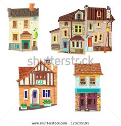 vintage facades - cartoon - bristol by iralu, via ShutterStock