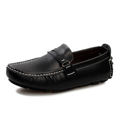 c2191bd2f5e HOT SALES Classic Design Men s REAL LEATHER Penny Loafers 4 COLORS Barefoot  Tennis Flat For