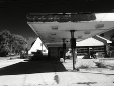 Old gas station type building