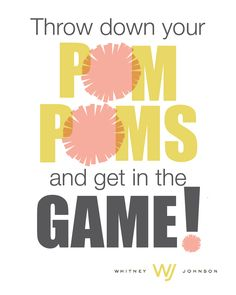 Throw down your pom-poms and get in the game!  Thank you for designing @Macy Robison