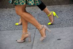 Valentino and Louboutin.