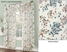 Sheer Athena Crinkle Curtain Panel