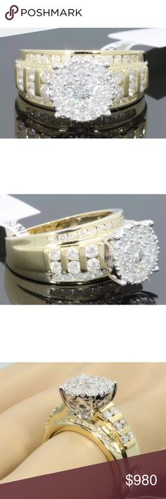 Beautiful 1.85 carat 10k yellow gold diamond ring Beautiful 1.85 carat 10k yellow gold diamond ring Jewelry Rings