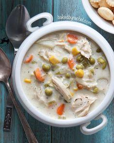 Slow Cooker Chicken Pot Pie Soup | RecipeLion.com