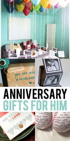 Anniversary Gifts for Him - he'll love the extra though you put into these gifts! anniversary gifts for him Diy Anniversary Gifts For Him, Bday Gifts For Him, Surprise Gifts For Him, Thoughtful Gifts For Him, Romantic Gifts For Him, Boyfriend Anniversary Gifts, Wedding Anniversary, Cute Anniversary Ideas, Aniversary Ideas