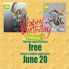 The new special edition free Only in a mobile application June 20! Новый специальный выпуск бесплатно только в мобильном приложении с 20 июня.