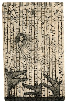 Ghost in the Trees by Jon Carling -- and by the way, he has an Etsy site . . .  Another local artist who I have met and admire.