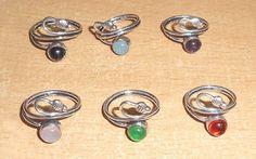 ROSE QUARTZ & MULTI STONE LOT 925 STERLING SILVER OVERLAY RINGS IN 6-7 US #VKSilvexJaipur #Ring