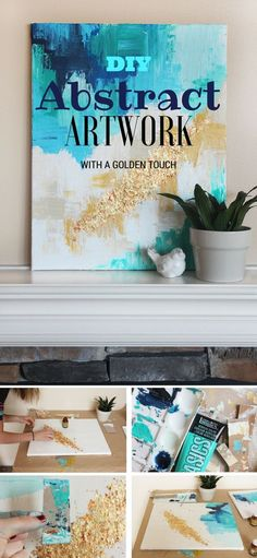 Check out the tutorial: #DIY Abstract Art @istandarddesign: