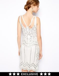 Friday night sequins -- Image 1 ofFrock and Frill Deco Embellished Dress with Cut Out Back