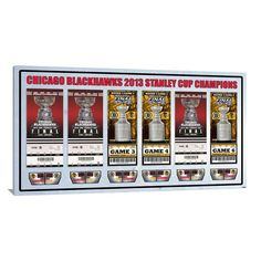 Chicago Blackhawks 2013 Stanley Cup Finals Tickets To History Canvas Print, Multicolor