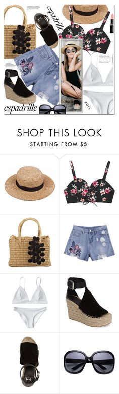 """Step into Summer: Espadrilles"" by duma-duma ❤ liked on Polyvore featuring Nannacay, Marc Fisher LTD, Marc Fisher and Smashbox"