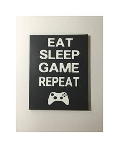 Gamer decor  painted canvas sign  gift for gamer  gamer