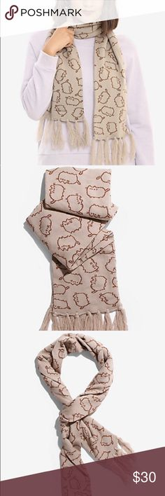💎FLASH SALE!!💎🎀NWT🎀💕PUSHEEN WRAP SCARF💕 I'm TOTALLY in LOVE with this SUPER ADORABLE Toss Print PUSHEEN Scarf🤗♥️ Needs a Great New Home🤗🏡  🎀BRAND NEW WITH TAGS 🎀 100%Acrylic Hot Topic Accessories Scarves & Wraps