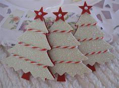 Winter Wonderland Glittery Christmas Bakers Twine Tree von vsroses