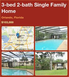 3-bed 2-bath Single Family Home in Orlando, Florida ►$103,000 #PropertyForSale #RealEstate #Florida http://florida-magic.com/properties/4430-single-family-home-for-sale-in-orlando-florida-with-3-bedroom-2-bathroom