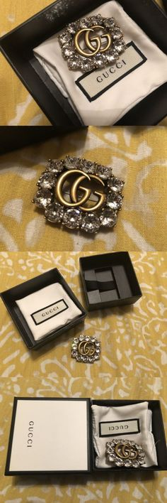 Pins and Brooches 50677: Authentic Gucci Pin With Crystals -> BUY IT NOW ONLY: $375 on eBay!