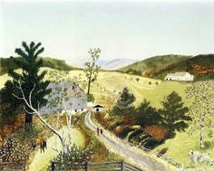 Grandma Moses, Georges Braque, Artwork Images, Naive Art, Claude Monet, American Artists, Folk Art, Image Search, Eye Candy